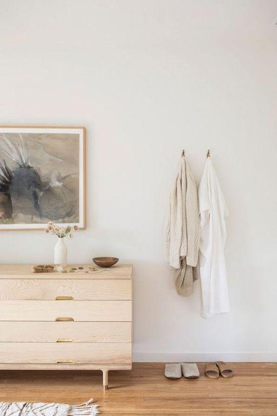 natural wood dresser & robes-2