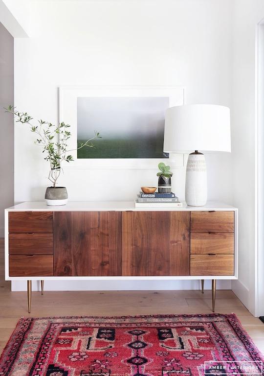 red rug brown_white dresser