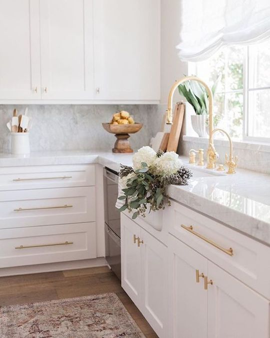 white cabinets gold hardware-2